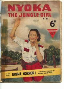 NYOKA THE JUNGLE GIRL #61 1950'S-FAWCETT-PHOTO COVER-BRITISH VARIANT-fr