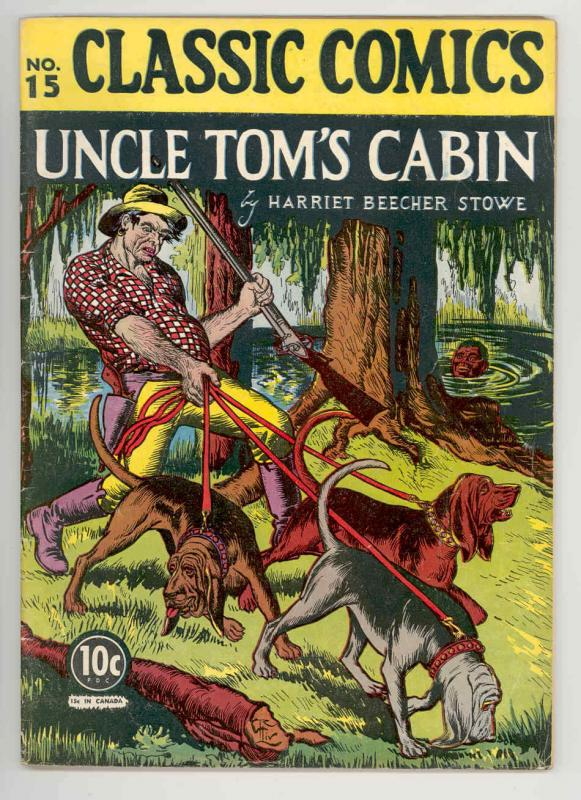 CLASSIC COMICS #15 HRN 14 UNCLE TOMS CABIN .1943. KEY 1st ed HISTORIC--NICE FN+