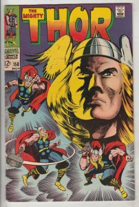 Thor, the Mighty #158 (Nov-68) NM- High-Grade Thor