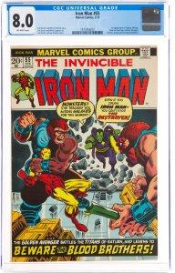 Iron Man #55 (Marvel, 1973) CGC Graded 8.0
