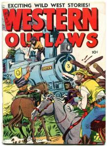 Western Outlaws #18 1948- Fox Golden Age Western VG-