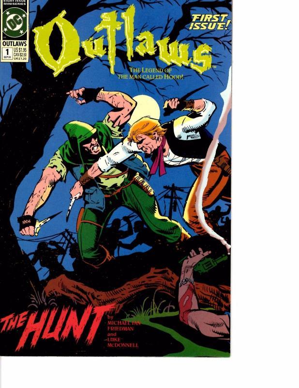 Lot Of 2 DC Comic Book Outlaws #1 and Kobra #1  KS11