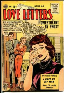Love Letters #41 1955-Quality-excellant art-Ghost of An Old Romance-VG