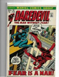 DAREDEVIL #90 (NM-) - BLACK WIDOW!! Super-Bright, Colorful & Glossy! HIGH GRADE