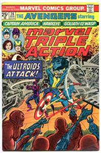 MARVEL TRIPLE ACTION #28, VF/NM, Avengers, Captain America, Hawkeye, 1972 1976
