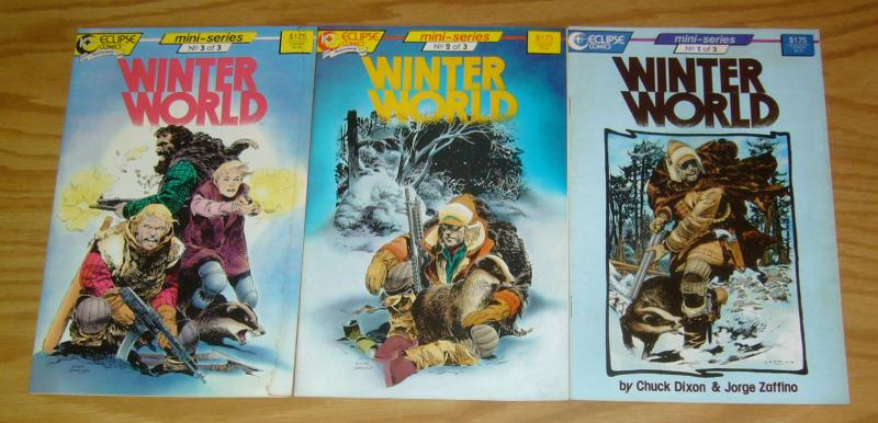 Winter World #1-3 VF/NM complete series CHUCK DIXON ice age - global cooling 2