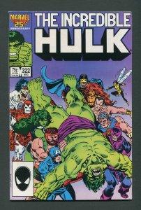 Incredible Hulk #322 / 7.5 VFN-  August  1986