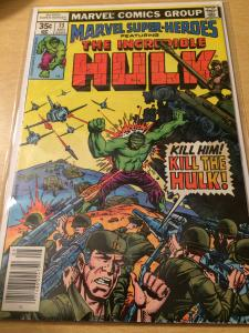 Marvel Super Heroes #73 featuring The Incredible Hulk