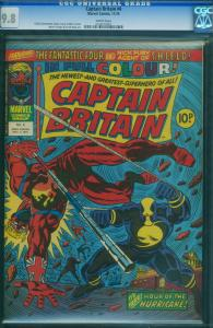 Captain Britain #4 1976-White Pages - CGC GRADED 9.8-UK comic- 0228270003
