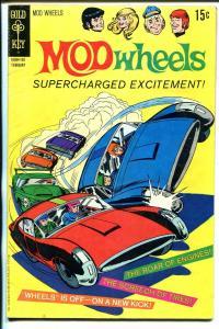 MOD Wheels #1 1970-Gold Key-1st issue-TV cartoon series-VG+
