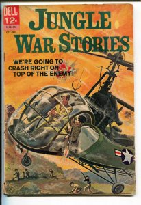 JUNGLE WAR STORIES #5 1963-DELL-VIET NAM WAR ACTION-HELICOPTER COVER-vg minus
