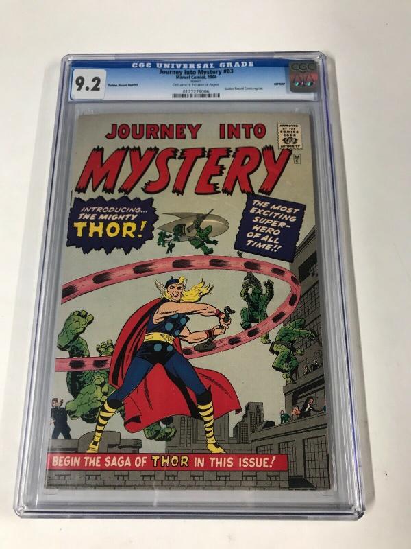 journey into mystery 83 Cgc 9.2 Golden Record Reprint Marvel