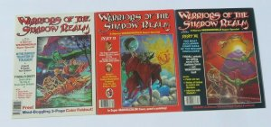 Lot/3 Warriors of the Shadow Realm #11,12,13 VF/VF+ High Grade Marvel Magazines