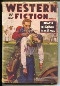 Western Fiction Monthly 5/1935-Red Circle-Death Valley Kid-J W Scott cover-VG