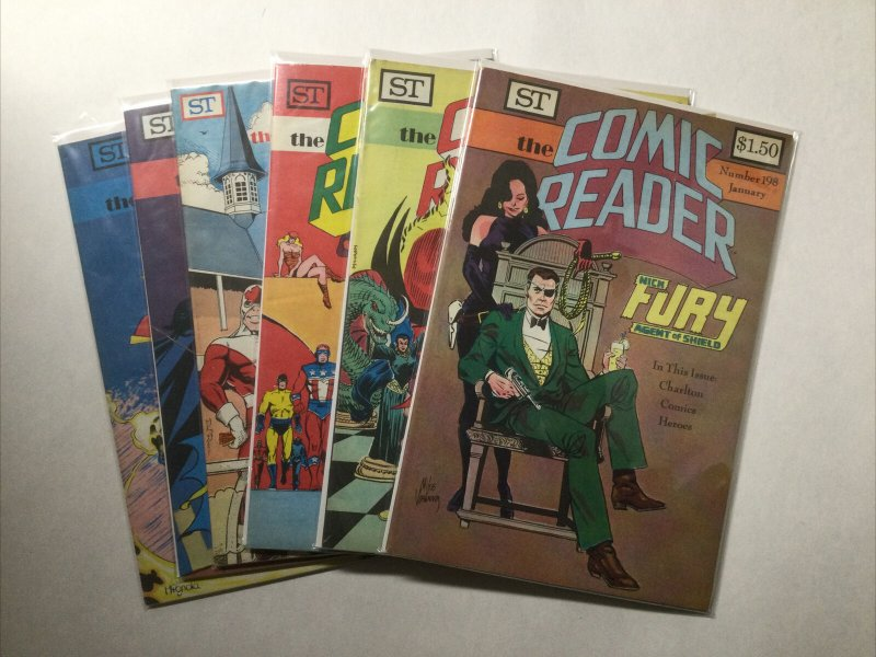 Comic Reader 198 199 200 201 202 203 Lot Run Set Vf-Nm Street Enterprises
