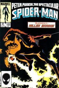 Spectacular Spider-Man (1976 series) #102, VF+ (Stock photo)