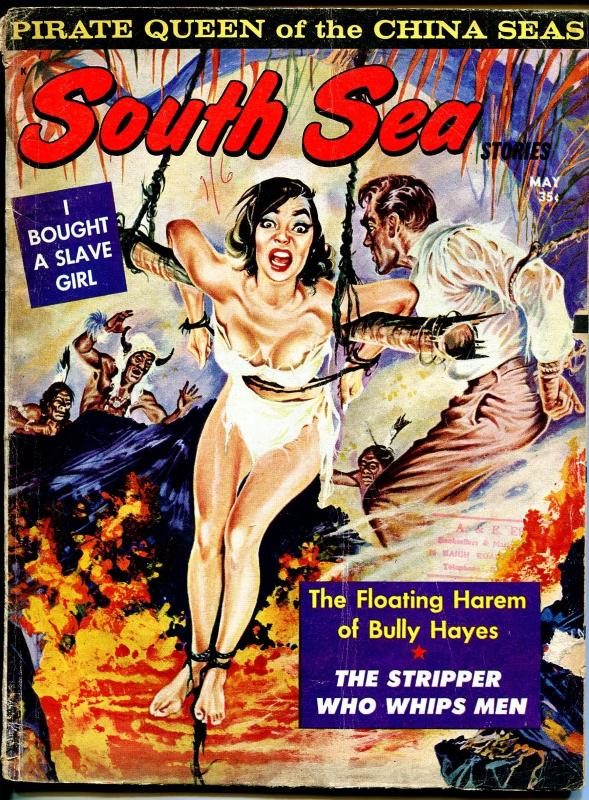 South Sea Stories 5/1963-terrified bound babe-slave girl-cheesecake pix-G/VG