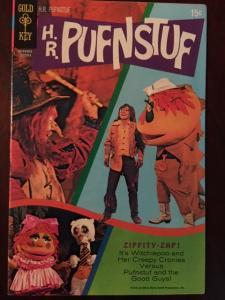 HR PUFNSTUF #1! GOLD KEY GLOSSY VF OLD TV SHOW! BRIGHT COLORS