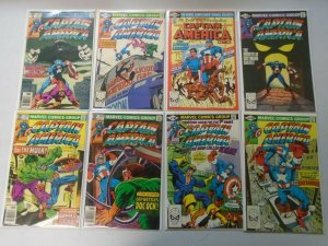 Captain America lot 42 different from #251-300 avg 8.0 VF (1980-84 1st Series)