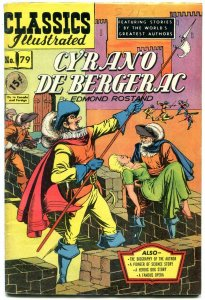 Cyrano de Bergerac-CLASSICS ILLUSTRATED #79 HRN 78 FN