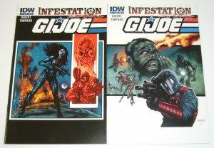 G.I. Joe: Infestation #1-2 VF/NM complete series - both A variants - set lot