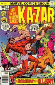Ka-Zar (2nd Series) #16 VG; Marvel | low grade comic - save on shipping - detail