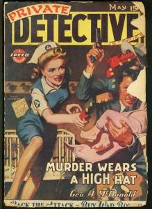 PRIVATE DETECTIVE 1944 MAY-BABY STEALING COVER-PULP FR