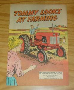 Tommy Looks At Farming #1 VF- b.f. goodrich educational comic about farms