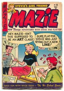 Mazie #19 1953- good girl art - Sherlock Holmes parody