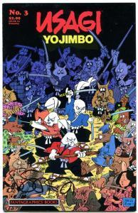 USAGI YOJIMBO #3, NM-, Signed Stan Sakai with Remark art, 1987, more in store