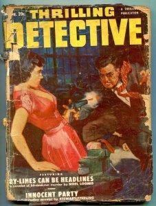 Thrilling Detective Pulp April 1951- Noel Loomis- Stewart Sterling reading copy