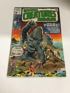 Where Creatures Roam 3 Vg Very Good 4.0 Marvel