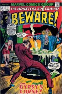 Marvel BEWARE (1973 Series) #3 VG