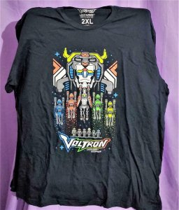Loot Crate Exclusive VOLTRON LEGENDARY DEFENDER 8 Bit T-Shirt 2XL (Loot Crate)!