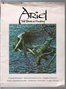 Ariel - The Book Of Fantasy #3 1978-faulous pulp & comic art-Zelazny-Ellison-G
