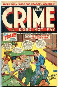 CRIME DOES NOT PAY #56-BIRO-BRUTAL-TORTURE COVER FN-