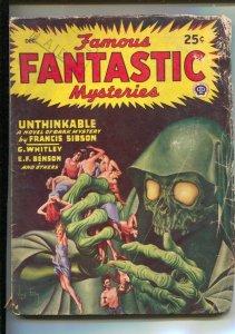 Famous Fantastic Mysterie-12/1946-Popular-Virgil Finlay-pulp horror-Francis S...