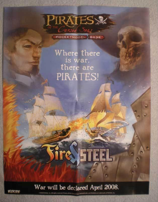 PIRATES OF THE CURSED SEAS Promo Poster, 2008, Unused, more in our store