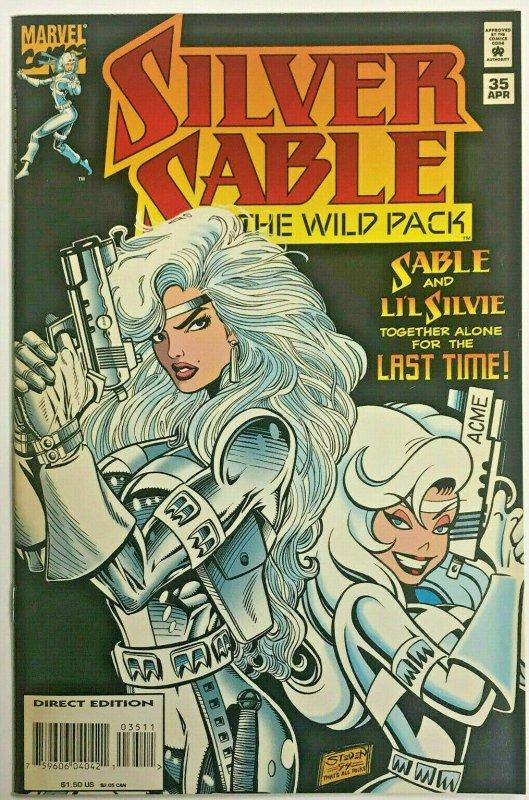 SILVER SABLE#35 VF 1994 HTF LAST ISSUE MARVEL COMICS
