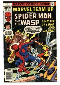 Marvel Team-up #60 Wasp-Spider-Man comic book NM-