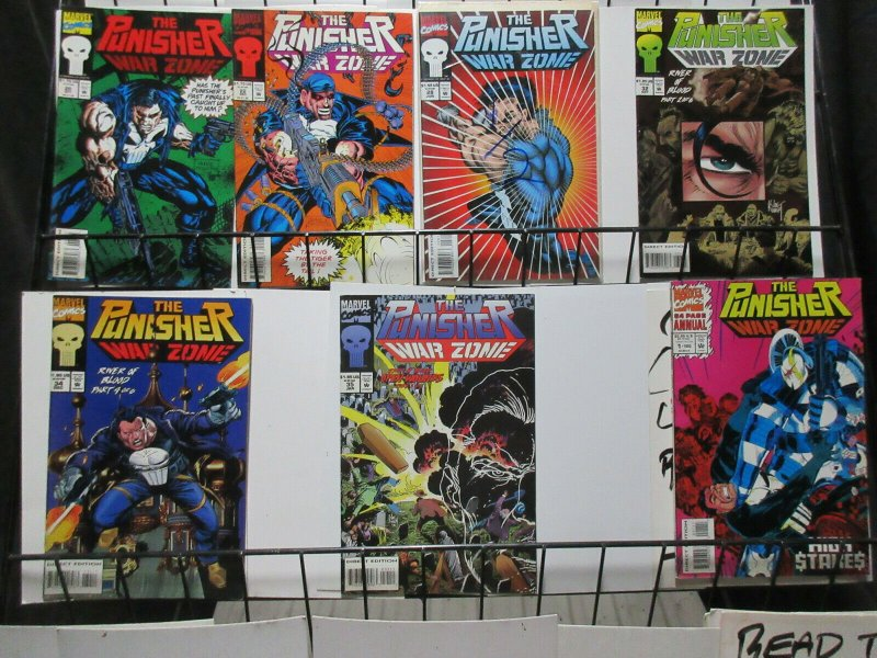 Punisher Mini-Library Short White Box SWB Lot 166 DIFF of Frank Castle Justice