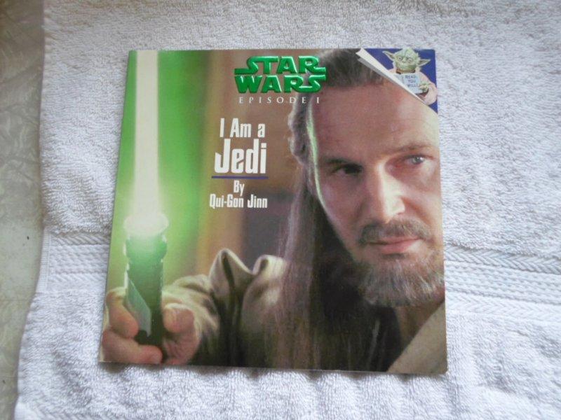 1999 LUCASFILM LTD STAR WARS I AM A JEDI BY QUI- GON CARASINI WITH STICKERS.
