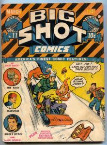 BIG SHOT #11 1941-Skyman- The Face- Charlie Chan G+