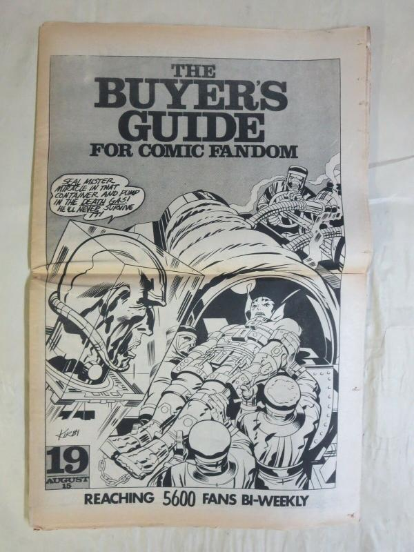 BUYERS GUIDE #19 Kirby cvr Sept 1972 Beautiful Balloons