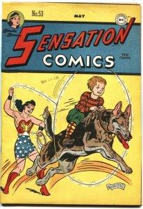 SENSATION COMICS #53-WONDER WOMAN-REX THE WONDER DOG PROTOTYPE-SARGON