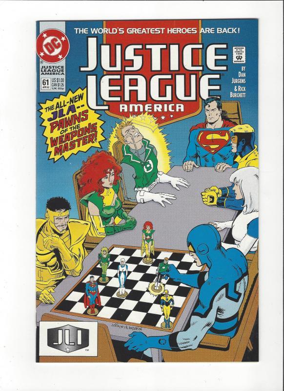 Justice League America #61 1987 DC Comics Copper Age  NM