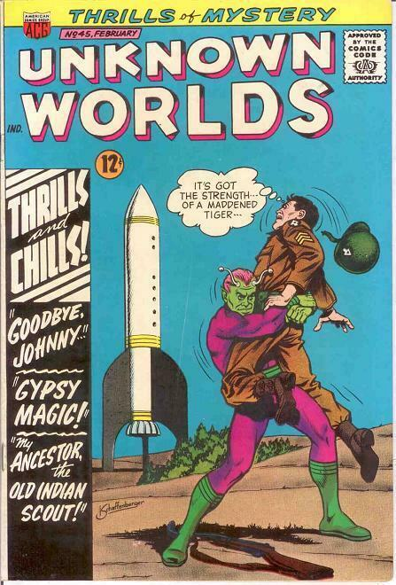 UNKNOWN WORLDS (1960-1967 ACG) 45 VF   Feb. 1966 COMICS BOOK