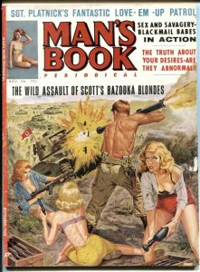 Man's Book November 1963- Scott's Bazooka Blondes VG