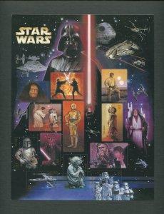 Star Wars US Postage Stamp Commemorative Sheet  2007