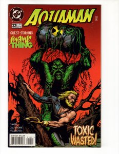 AQUAMAN #32 (VF/NM) SWAMP THING! 1¢ Auction! No Resv! See More!!!